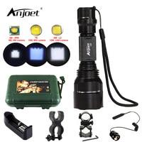 ANJOET C8 Flashlight LED 1200LM XML T6 Q5 L2 Aluminum Self Defense Tactics Torches Lamp Kit