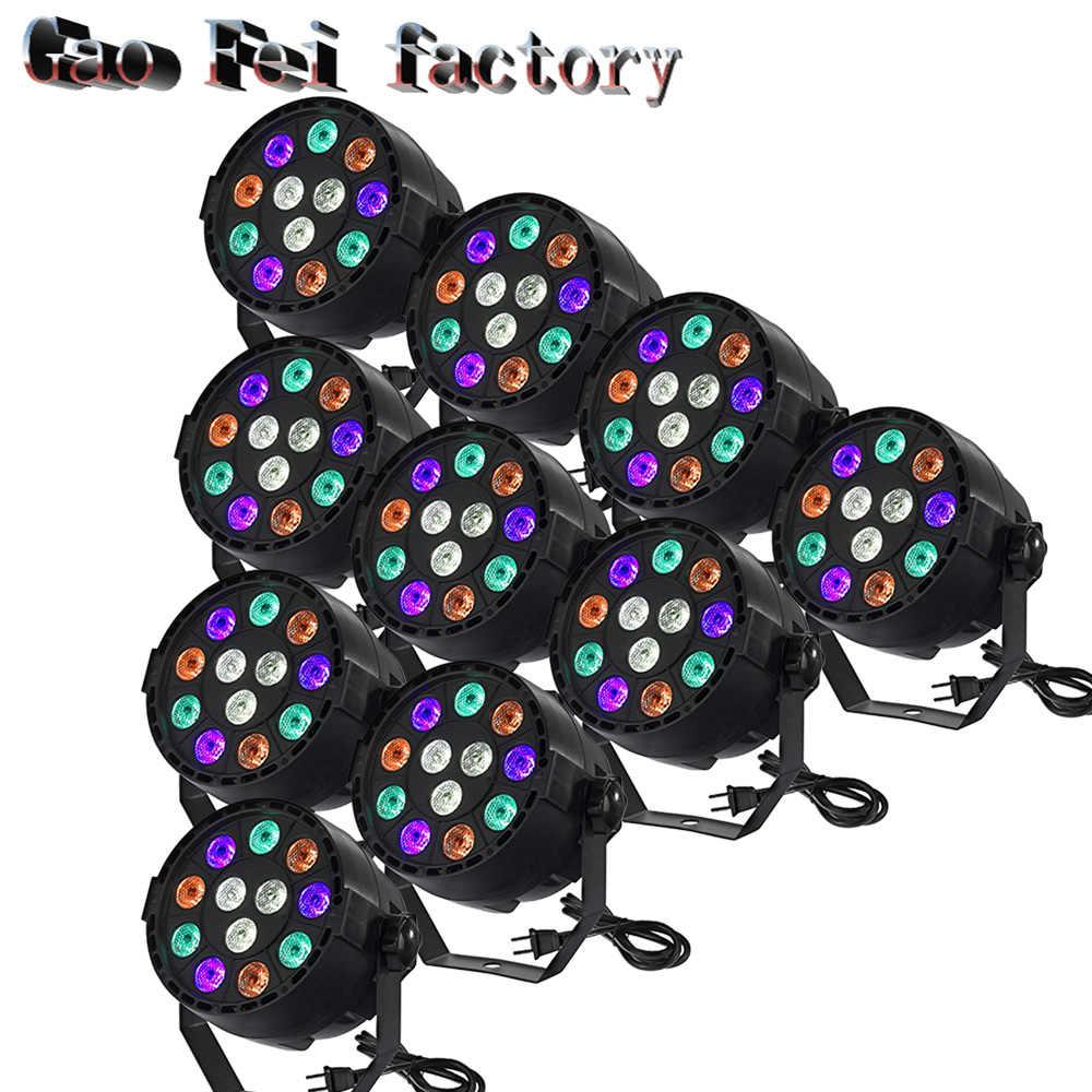 10 шт./лот 12x3 Вт LED PAR может светодиодный прожектор par dj проектор стирка освещения сцены с подсветкой с LED PAR свет
