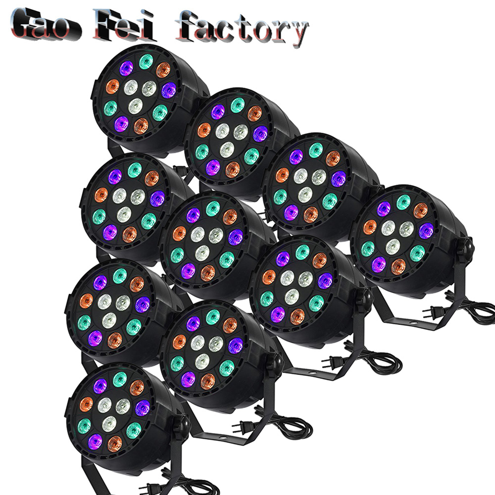 10PCS/LOT 12x3W LED Par Can Par Led Spotlight Dj Projector Wash Lighting Stage Light  LED With  LED Par Light