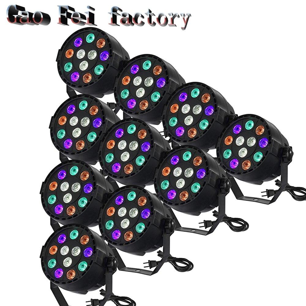 10PCS/LOT 12x3W LED Par Can Par Led Spotlight Dj Projector Wash Lighting Stage Light  LED With  LED Par Light