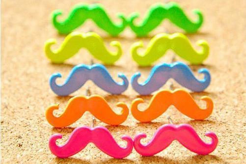 new color mustache earring fashion earrings wholesale jewelry 2013