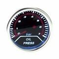 "Free shipping Oil press gauge 2""(52mm) Oil pressure gauge 0-7 bar SENSOR SMOKE LEN/car Auto gauge/Tachometer/Car Racing meter"