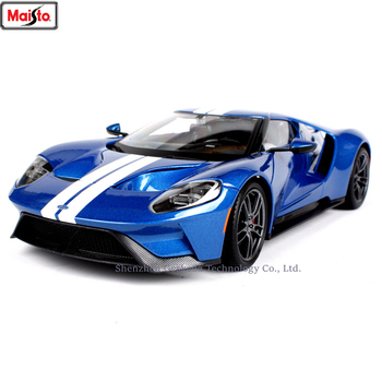 Maisto 1:18 Ford GT sports car Alloy Retro Car Model Classic Car Model Car Decoration Collection gift maisto 1 18 2017 ford gt yellow silver blue car diecast exquisite luxury car toy model collecting car model for men gift 31384