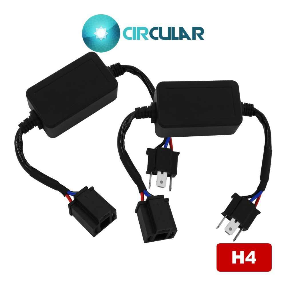 H4 Canbus สำหรับ BMW MINI H4 Hi Lo Beam Auto ไฟหน้า LED Bulb Fast แฟลชยกเลิกข้อผิดพลาดรถคอมพิวเตอร์หยุดกระพริบ