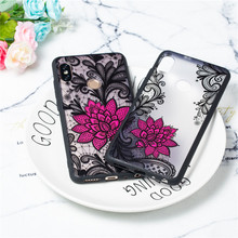 For Xiaomi Redmi Note 5 Pro Case TPU +PC Lace Rose Flower Anti-knock Case For Xiaomi Redmi Note 5 Pro Cover For Redmi Note 5 Pro цена и фото