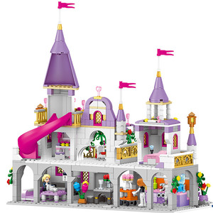 Image 3 - 731PCS Gril Freunde Prinzessin Windsor Burg Cinderella Prinzessin Royal Carriage Modell Bausteine Kit Spielzeug Geschenk