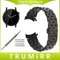 20mm pulseira curvo fim de aço inoxidável cinta para moto 360 2 42mm men watch band butterfly fivela de cinto pulseira preta prata