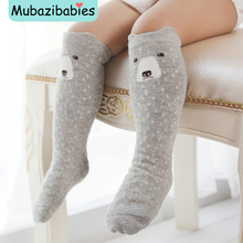 Cute Anti-Slip Cartoon Animals Kids Socks Cotton Baby Kid Knee High Socks Baby Girls Socks