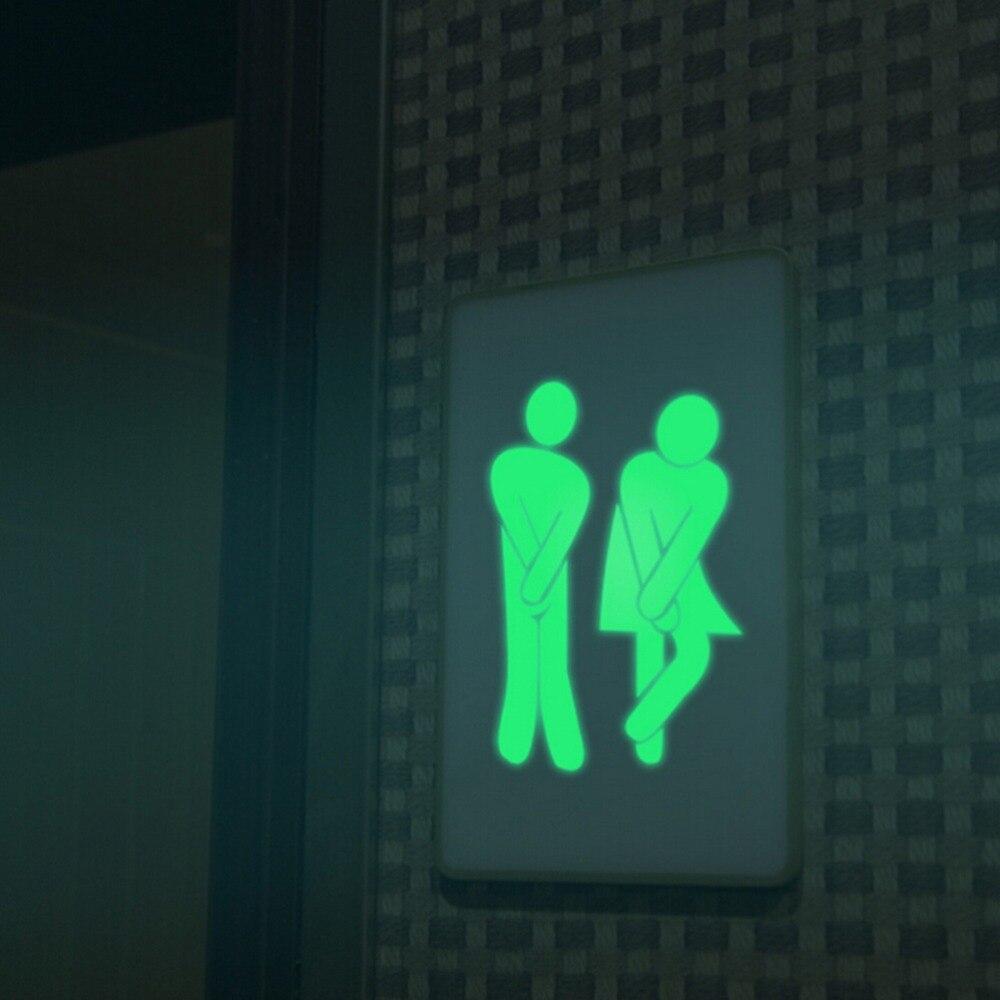 compare prices on bathroom vinyl door online shopping buy low creative luminous wall stickers bathroom decoration toilet door vinyl wall art decals glow in the dark
