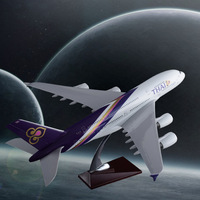 45cm Resin Thailand Airlines Airplane Model THAI Airbus A380 Airways Aircraft Model Creative Gifts Airplane Collection Souvenir