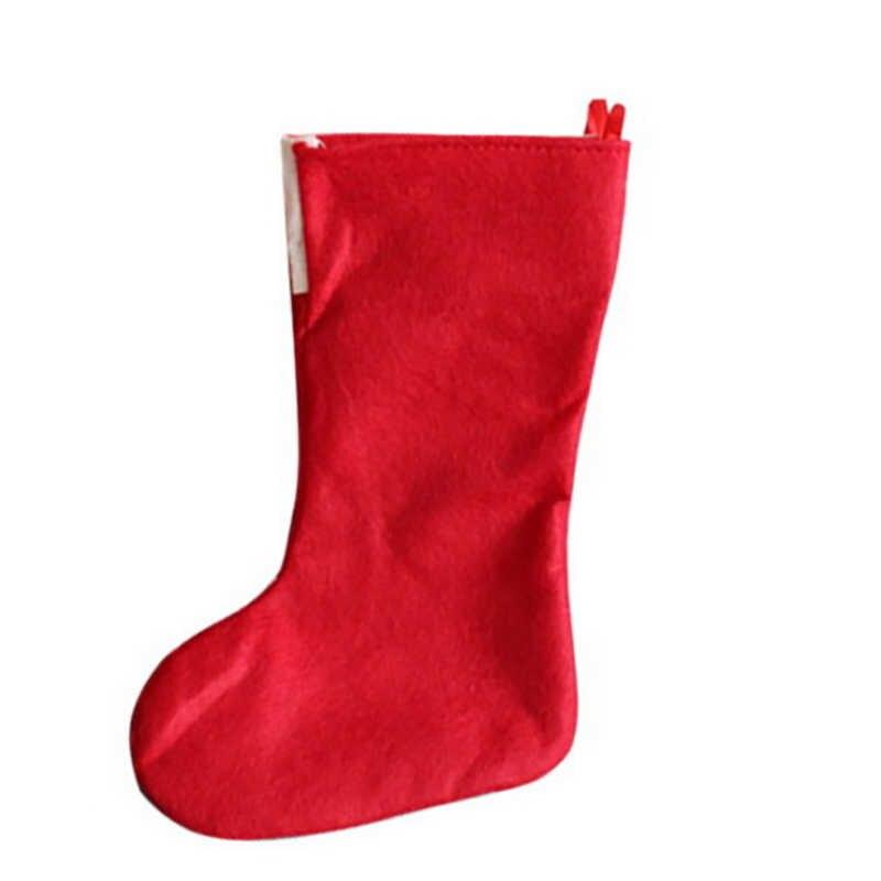 Grote Kerst Kousen Geschenken Doek Santa Elanden Sokken Xmas Mooie Gift Bag Voor Kinderen Haard Boom Kerst Decoratie