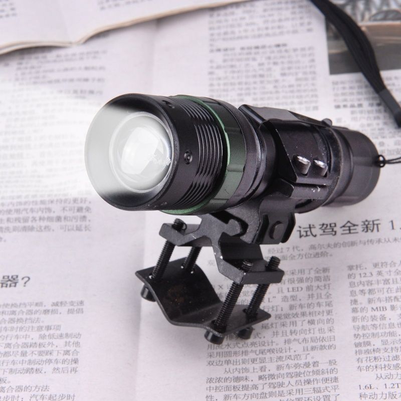 Hunting tactical flashlight Adjustable Q5 compact Zoom CREE LED Torch with Barrel or Scope Mount