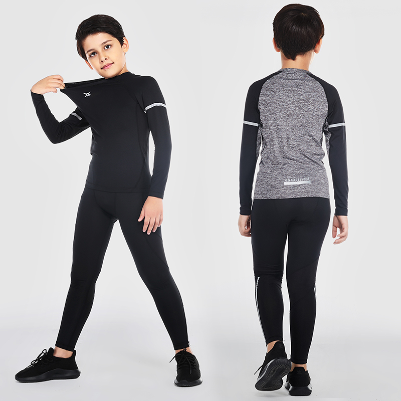 587bb7252 Aliexpress.com : Buy Vansydical Boy's Sports Suits Breathable Compression Running  joggers Tights Basketball Training Sets Quick Dry Soccer Kids Kits from ...