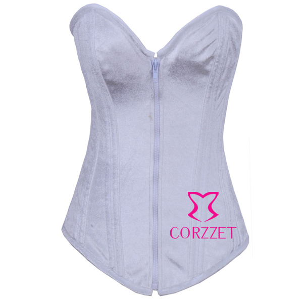 Cheap Fashion White   Bustiers   &   Corsets   Women Sexy Western Gothic Corpetes Shapewear Flannel Strapless Zipper   Corset   Corselet