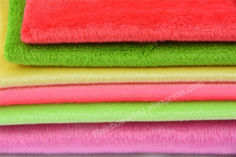 222# Sky Blue Color Super Soft Short Hair 2-3mm Fleece Fabric Velvet Microfiber Velboa for DIY Patchwork Toy Shoes Sofa Pillow