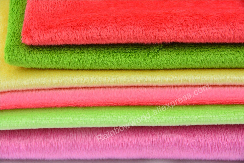 294# Light Gray Color Super Soft Short Hair 2-3mm Fleece Fabric Velvet Microfiber Velboa for DIY Patchwork Toy Shoes Sofa Pillow