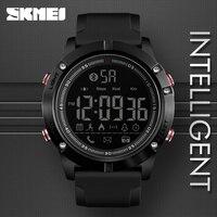 SKMEI спортивные Bluetooth Цифровые наручные часы модные часы Smart Watch Для мужчин шагомер калории дистанционного Камера светодиодный часы, армейски...