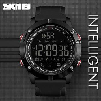 SKMEI Esportes Bluetooth Câmera Digital relógios de Pulso de Moda Homens Relógio de Calorias Pedômetro Inteligente Remoto LED Militar Relógios Relogio