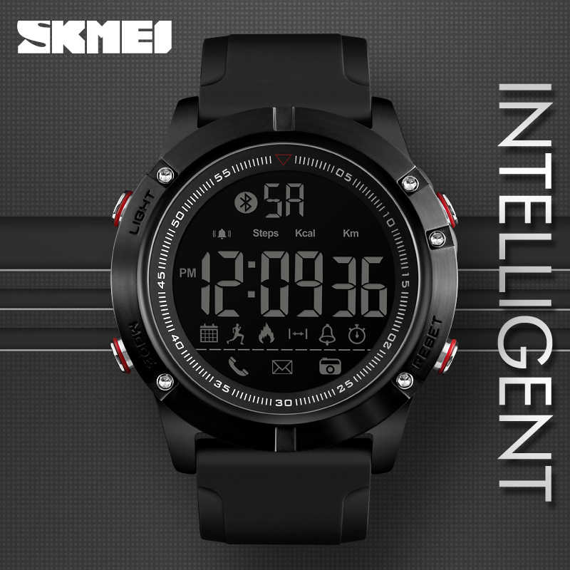 SKMEI Sports Bluetooth Digital Wristwatches Fashion font b Smart b font Watch Men Pedometer Calorie Remote