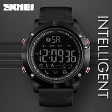 SKMEI montre bracelet numérique de sport pour hommes, Bluetooth, mode, podomètre, Calorie, télécommande, caméra, LED