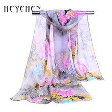 Summer Fashion Muslim Hijab Women Bandana Flower Chiffon Silk Scarf Female Foulard Summer Soft Long Shawl&Wrap 50*160cm HY49