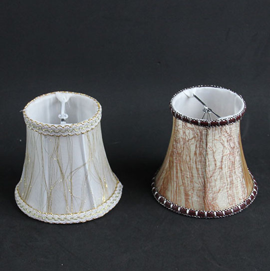 Small Lamp Shades: 12cm White Brown color fashion lace Chandelier Lamp Shades, Small Modern  wall lamp shades,,Lighting