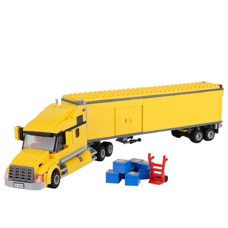 ZXZ 02036 City Truck Car Series Vehicles Building Block Brick 3221 Educational Toys for Children Xmas Gift Legoings 298pcs 2017 enlighten city series garbage truck car building block sets bricks toys gift for children compatible with lepin