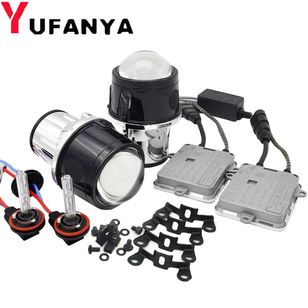 Kit de xénon de lentille de projecteur de xénon de Bi d'antibrouillard de 2.5 pouces 55 W pour les ampoules entièrement en métal H11 de Toyota/Ford/Universal/Nissan hid de modification