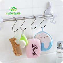 лучшая цена Kitchen Bathroom Stainless Steel S-Type Hook Multi-Function S Hook Durable Cabinet Cover Hook