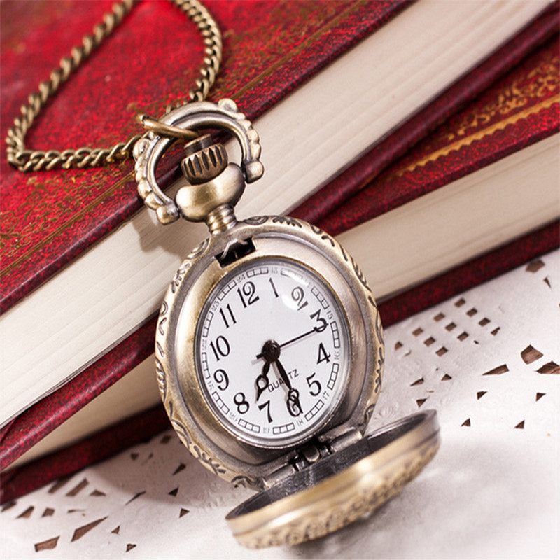 Hot Fashion Vintage Retro Deisgn Bronze copper metal Quartz Pocket Watch With Pendant Chain Necklace Clock Quartz-watch Reloj durable fashion pocket watch chain quartz watch vintage retro bronze quartz pocket watches