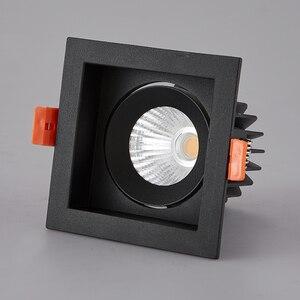 Image 3 - LED النازل LED بقعة ضوء 12 واط COB المنزل الإضاءة لغرفة المعيشة غرفة نوم مصباح السقف ساعة الوقواق مكافحة وهج الأضواء
