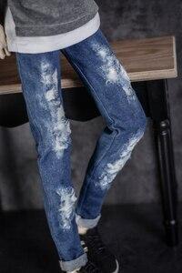 Image 5 - BJD בובת בגדים ללבוש חורים קרוע ג ינס חורי מכנסיים 2 צבעים 1/3 1/4 BJD DD SD MSD YOSD בובת הדוד גודל בובת אבזרים
