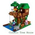 ЛЕПИН Дерево Дом Мой мир Minecraft Строительные Блоки Кирпичи Игрушки Для Детей Подарок 5 звезды
