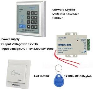 Image 2 - RAYKUBE RFID Access Control System Kit Set Mit Elektronische Schloss Passwort Tastatur & RFID Reader DIY Kit Für Tür Sicherheit