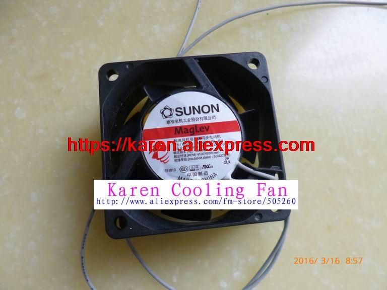 New Original SUNON MA2062-HVL.GN 60*60*25MM 6cm 220V Cooling fan MA2062-HVL new original sunon eg50060s1 c000 s99 lxo0791002 dc5v 1 15w cooling fan