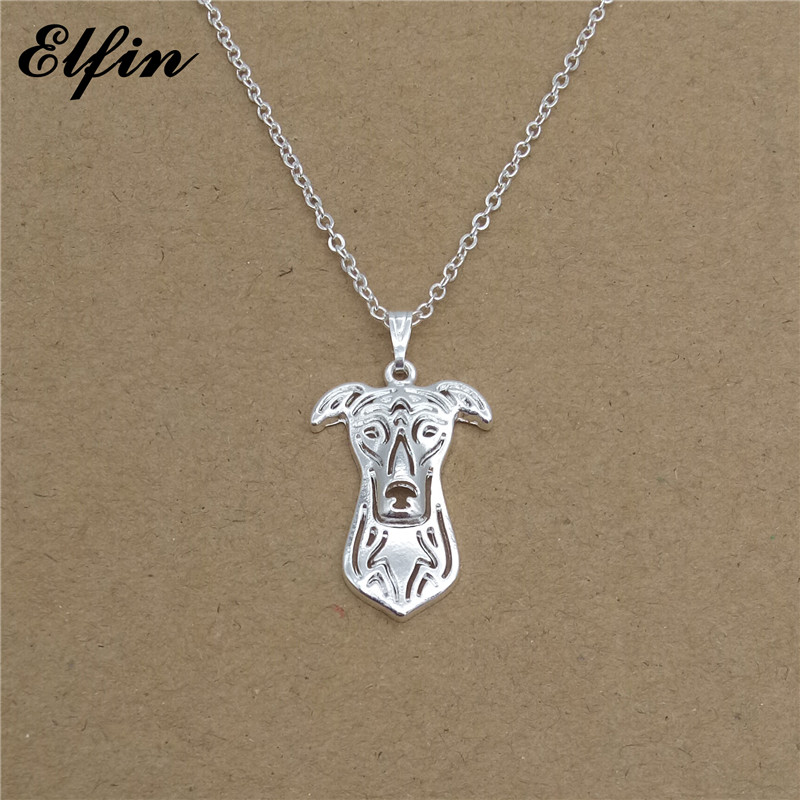 Elfin 2018 Trendy Greyhound Necklace Gold Color Silver Color Dog Jewellery Pendant Necklace Women steampunk