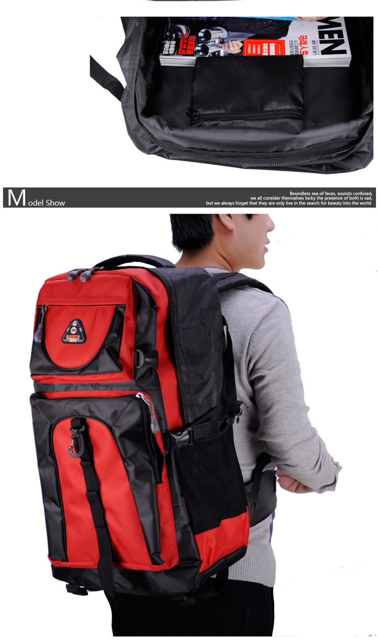 17 Senkey style 60L Large-capacity Travel Backpack Men Women Fashion Backpack To Casual Waterproof Laptop Student school Bag 8