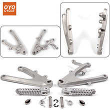 Front Driver Rider Foot Pegs For Yamaha YZF R1 2004 2005 2006 Bracket Footrests Footpegs YZF-R1 Rests