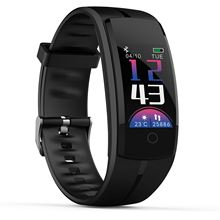 QS100 Sensible Wristband Coloration LCD Health Tracker Coronary heart Fee Blood Strain Monitor Health Bracelet Waterproof Pedometer Band
