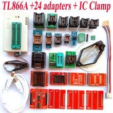 TL866A programmeur + 24 adaptateurs + IC PINCE Haute vitesse TL866 AVR PIC Bios 51 MCU Flash EPROM Programmeur Russe Anglais manuel