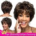 Коричневый короткий боб волнистые вьющиеся волосы женщины косплей афро парики для женщины черные кружева перед синтетические парики с ребенком волос freetress волос