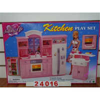 Miniature Furniture My Fancy Life Kitchen for Barbie Doll House Best Gift Toys for Girl Free Shipping