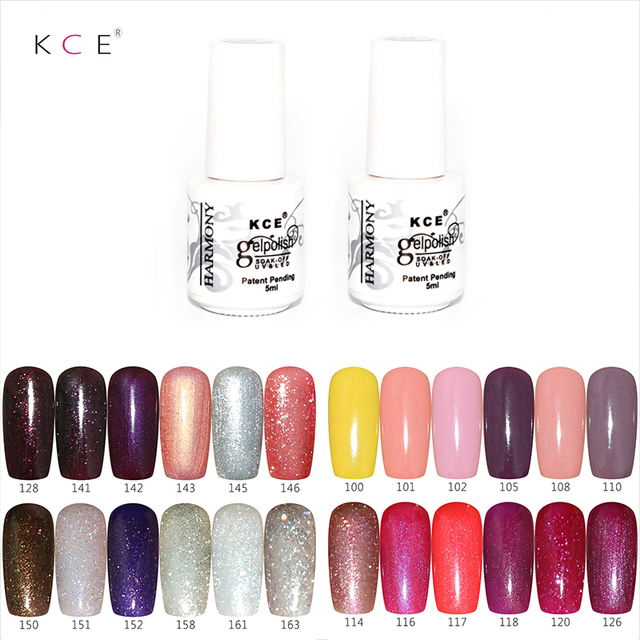 2017 Hot KCE Gel Polish LED UV Gel Nail Polish Soak Off Gel Polish Perfect  Effect Gel Lacquer Sex woman makeup(color 126-168)