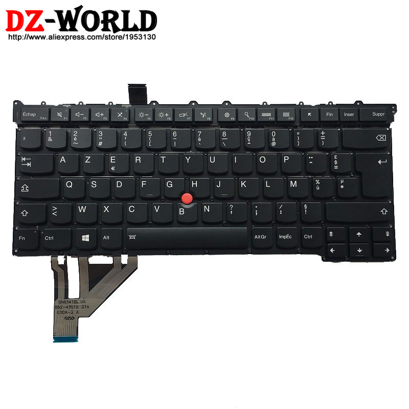New Original for Lenovo Thinkpad X1 Carbon 3rd TYPE: 20BS 20BT Backlit Keyboard FR France French Backlight Teclado SM20G18616 2017new original for lenovo thinkpad x1 carbon 5th keyboard us english backlit backlight teclado 01er623 sn20m08031