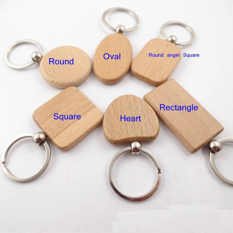 Takı ve Aksesuarları'ten Anahtar Zincirleri'de 100 ADET Boş Dikdörtgen Ahşap Anahtarlık DIY Promosyon kişiye özel anahtar Etiketleri Promosyon Hediyeler'da  Grup 1