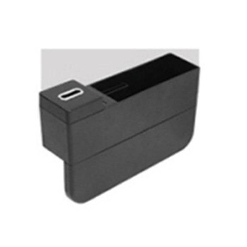Универсальный ящик для хранения автомобильный подстаканник для сидений двойной перезаряжающийся USB интерьер для дома корзина для организации автомобиля коробка для хранения - Название цвета: Black