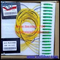 Instalacja 1x8 port PLC FTTH Optical Fiber Splitter 2.0mm-SC SM/PC LC, FC, ST ect opcje