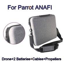Дорожная сумка для попугая ANAFI Радиоуправляемый fpv-дрон+ 2 батареи+ кабели+ пропеллеры чехол для хранения молния плечевой ремень Дрон сумки