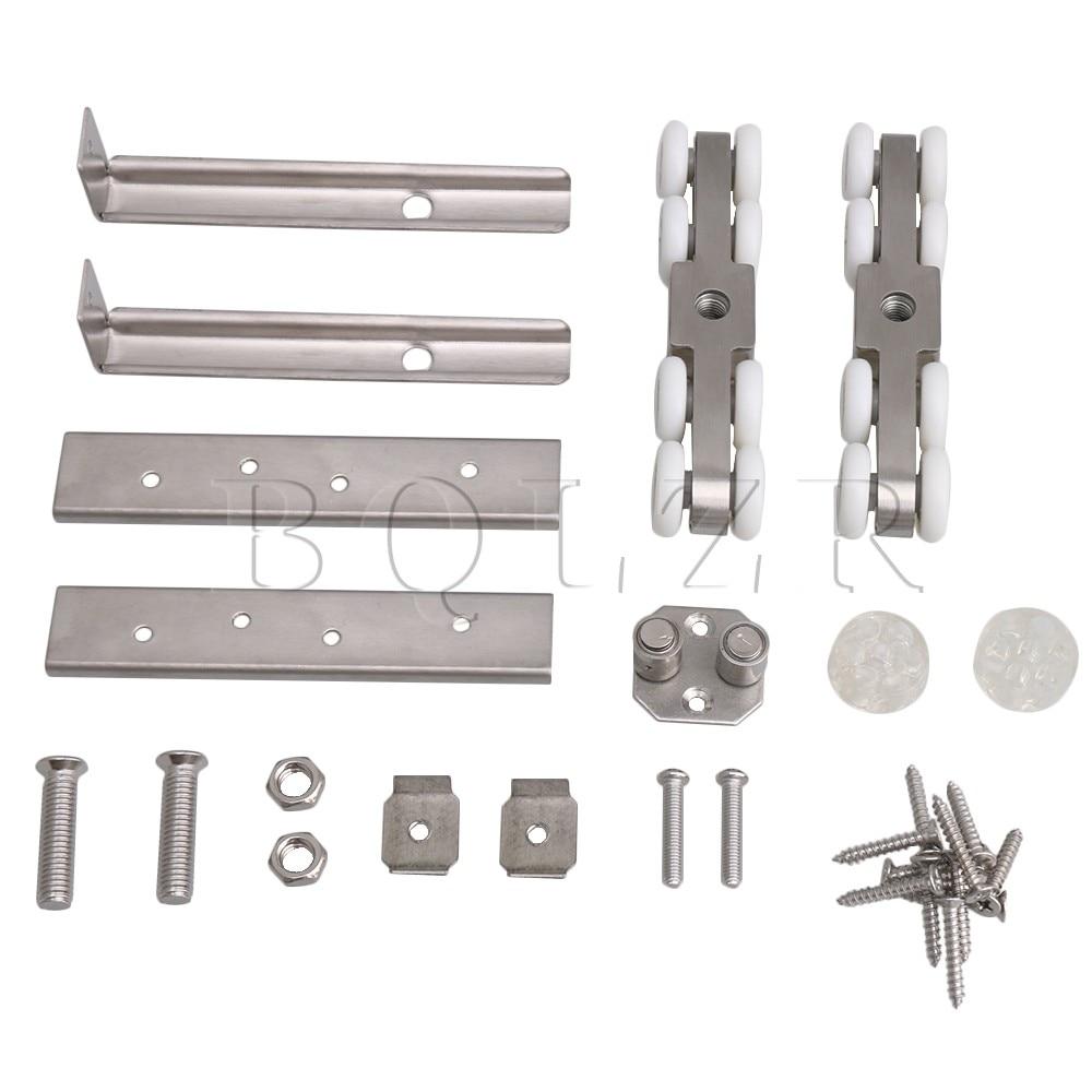 BQLZR 4.84x0.94x1.1inch Sliding Door Hanging Pulley Single Hole 8 Wheels Set цены