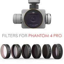 DJI phantom 4 Pro Accesorios PGYTECH Lente Filtros ND4 UV 8 16 32 64 CPL Filtro cardán RC Quadcopter Drone partes